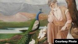 Шайх Саънон образи Марказий Осиë рассомлари тарафидан тасвирланган