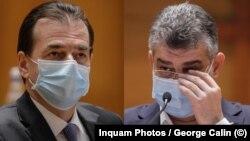 Premierul Ludovic Orban și președintele interimar al PSD, Marcel Ciolacu