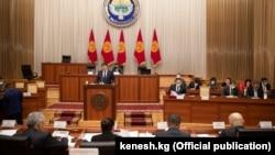 Премьер-министр Улукбек Марипов Жогорку Кеңеште, 2.02.2021