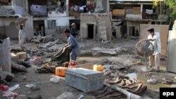 Последствия наводнений в Афганистане. Кабул, 4 августа 2013 года.