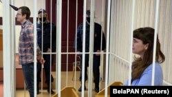Артем Сорокин и Катерина Борисевич в суде, 2 марта 2021 года