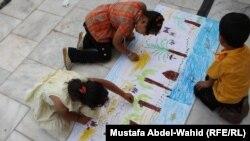معرض الرسم الحر لصغار في كربلاء