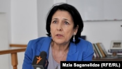 Former Georgian Foreign Minister Salome Zurabishvili (file photo)