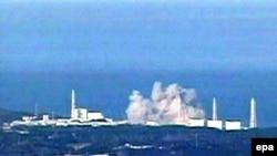 Imagine a centralei nucleare de la Fukushima după exploziile de luni