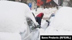 Snijeg u Podgorici, februar 2012.
