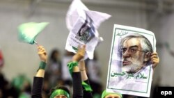 Yaşıl rəng İranda Musəvi tərəfdarlarının simvoludur