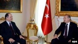 Встреча главы Курдского автономного района Ирака Масуда Барзани и премьер-министра Турции Реджепа Эрдогана в Анкаре, 14 июля, 2014 года