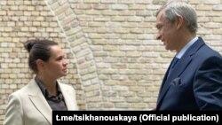 Сьвятлана Ціханоўская і Павал Латушка. Архіўнае фота