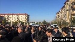 Ադրբեջան - Բողոքի ակցիաներ Աղջաբեդիի շրջանում, 12-ը հունվարի, 2016թ․