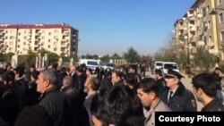 Arxiv fotosu: Ağcabədi rayonunda etiraz aksiyası, 12 yanvar 2016