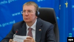 Едгарс Ринкевичс министер за надворешни работи на Летонија, земја-претседавач со Советот на ЕУ,