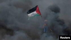 Flamuri i Autoritetit Palestinez, foto nga arkivi.