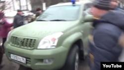 Автомобіль в якому везли українського полоненого, Донецьк, 22 січня 2015 року