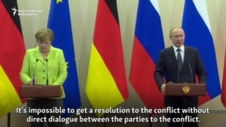 Putin, Merkel Differ Over Ukraine Peace Talks