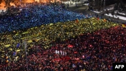 Daily protests, including huge weekend rallies, have been taking place across Romania in the past couple of weeks.