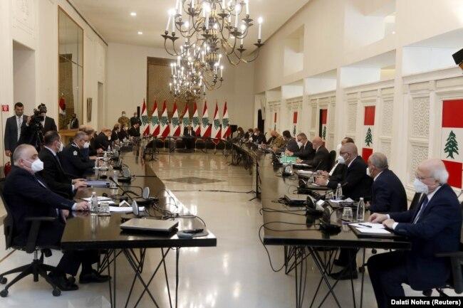 نشست میشل عون با مقامهای ارشد لبنان پس از بالا گرفتن بحران منع واردات به عربستان/ دوشنبه ۲۶ آوریل