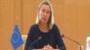 Federica Mogherini, coordonatoarea politicii externe europene în Turkmenistan, 6 iulie 2019