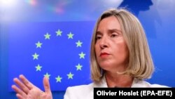 European Union foreign-policy chief Federica Mogherini (file photo)
