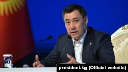 Премьер-министр, исполняющий обязанности президента Садыр Жапаров.