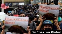 Demonstranti na ulicama Hong Konga