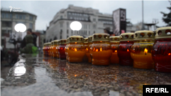 На акции памяти жертв политических репрессий, Москва