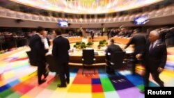 На саммите ЕС в Брюсселе. 10 марта 2017 года.