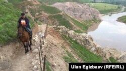 Kyrgyzstan. Maily-Suu. landslide. May 12, 2017