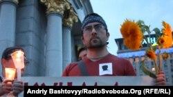 День пам'яті Георгія Гонгадзе. Акція на майдані Незалежності, Київ. 16 вересня 2010 року.