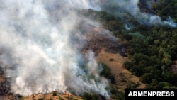 The wildfire in the Khosrov Forest State Reserve