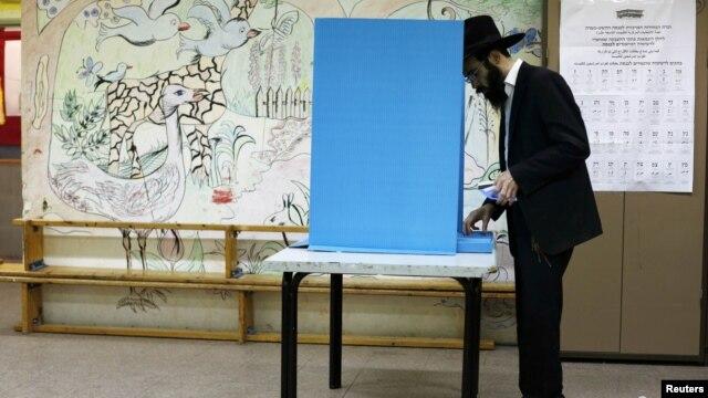 Իսրայել - Քվեարկություն Երուսաղեմի ընտրատեղամասերից մեկում, 22-ը հունվարի, 2013թ.