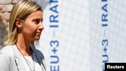 Еуропа Одағының сыртқы саясат жөніндегі жоғары комиссары Федерика Могерини. Вена, 7 шілде 2015 жыл.