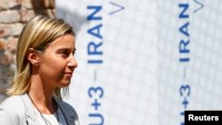 EU foreign policy chief Federica Mogherini in Vienna (file photo)