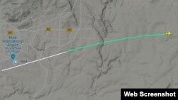 Путь самолета Ethiopian Airlines от аэропорта до места крушения.