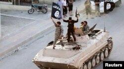 İŞİD Raqqa şəhərində.