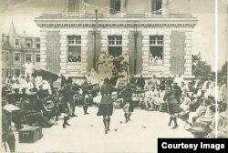 Ofițeri scoțieni la Iași în 1917 (Sursa: Arhivele Naționale Istorice Centrale)