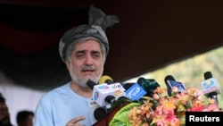 Afghan presidential candidates are promising peace.