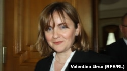 Moldova - Natalia Gherman, deputy in Parliament, Chisinau, 30May2013.