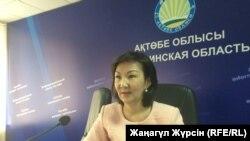 Руководитель областного управления финансов Гулькасима Суентаева. Актобе, 12 июля 2017 года.