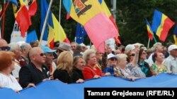 La demonstrația pro-unionistă de la Chișinău