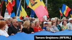 La marșul pro-unionist de la Chișinău