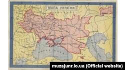 Поштова листівка «Мапа України». Видавництво «Вісті з Запоріжжя». Львів, 1910-і роки