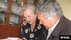 Valentina Sturza împreună cu Ion Pagu la Ciuciuleni