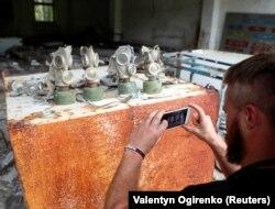 Турист у Прип'яті. Ілюстративне фото