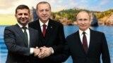 Президенты Украины, России и Турции. Коллаж