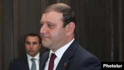 Armenia - Yerevan Mayor Taron Markarian, 17Apr2014.