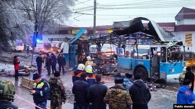 Террористический акт в Волгограде, взорванный троллейбус