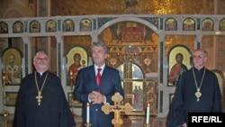Президент України Віктор Ющенко в соборі Святої Софії в Римі, 9 жовтня 2008 р.