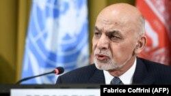 Ашраф Гани Женевадагы конференцияда, 28-ноябрь 2018-жыл.