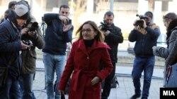 Горднана Јанкулоска на суд за предметот Таргет-Тврдина на 22.12, 2017 година