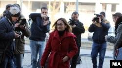 Архивска фотографија- поранешната министерка за внатрешни работи Гордана Јанкулоска на судење